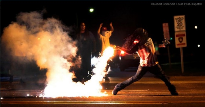 Captain America in Ferguson, MO 01